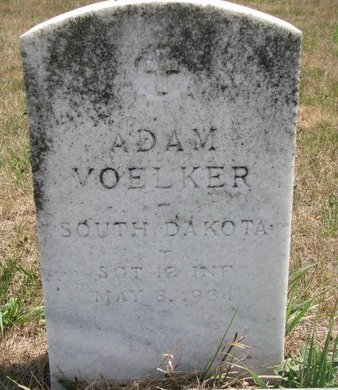 VOELKER, ADAM (MILITARY) - Turner County, South Dakota | ADAM (MILITARY) VOELKER - South Dakota Gravestone Photos