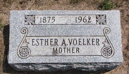 VOELKER, ESTHER A. - Turner County, South Dakota   ESTHER A. VOELKER - South Dakota Gravestone Photos