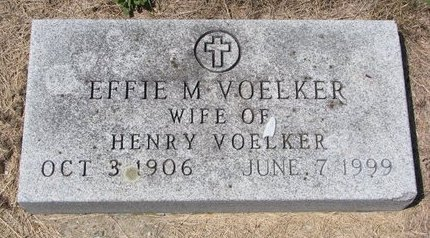 VOELKER, EFFIE M. - Turner County, South Dakota | EFFIE M. VOELKER - South Dakota Gravestone Photos