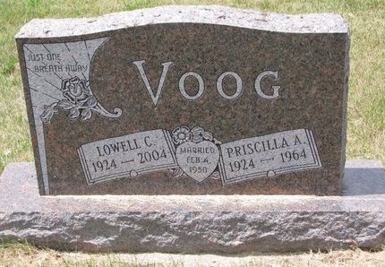 ANDERSEN VOOG, PRISCILLA - Turner County, South Dakota | PRISCILLA ANDERSEN VOOG - South Dakota Gravestone Photos