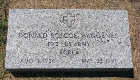 WAGGENER, DONALD ROSCOE - Turner County, South Dakota | DONALD ROSCOE WAGGENER - South Dakota Gravestone Photos