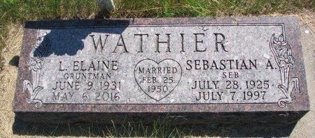 GRUNTMAN WATHIER, LUELLA ELAINE - Turner County, South Dakota   LUELLA ELAINE GRUNTMAN WATHIER - South Dakota Gravestone Photos