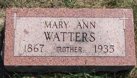 MEARS WATTERS, MARY ANN - Turner County, South Dakota | MARY ANN MEARS WATTERS - South Dakota Gravestone Photos
