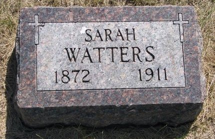 WATTERS, SARAH - Turner County, South Dakota | SARAH WATTERS - South Dakota Gravestone Photos