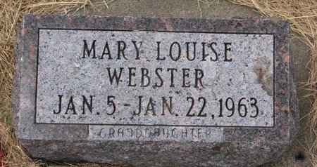 WEBSTER, MARY LOUISE - Turner County, South Dakota | MARY LOUISE WEBSTER - South Dakota Gravestone Photos