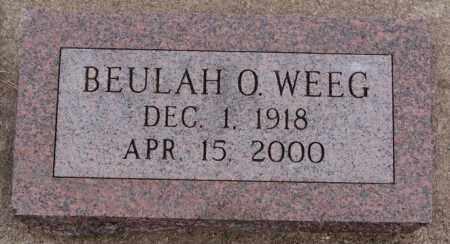 WEEG, BEULAH O - Turner County, South Dakota | BEULAH O WEEG - South Dakota Gravestone Photos