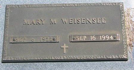 WEISENSEE, MARY M. - Turner County, South Dakota   MARY M. WEISENSEE - South Dakota Gravestone Photos