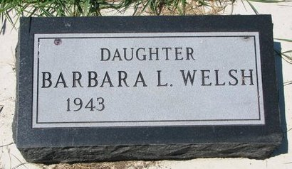 WELSH, BARBARA L. (FOOTSTONE) - Turner County, South Dakota | BARBARA L. (FOOTSTONE) WELSH - South Dakota Gravestone Photos