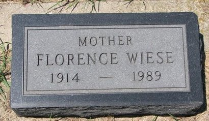 WELSH, FLORENCE (FOOTSTONE) - Turner County, South Dakota | FLORENCE (FOOTSTONE) WELSH - South Dakota Gravestone Photos