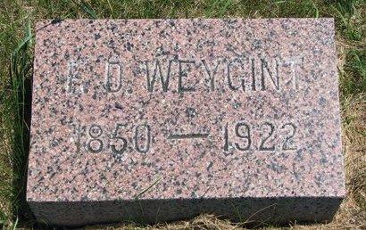 WEYGINT, F.D. - Turner County, South Dakota | F.D. WEYGINT - South Dakota Gravestone Photos