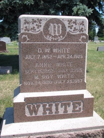 WHITE, ANNIE - Turner County, South Dakota | ANNIE WHITE - South Dakota Gravestone Photos