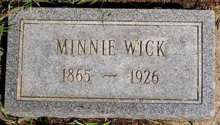 WICK, MINNIE - Turner County, South Dakota | MINNIE WICK - South Dakota Gravestone Photos