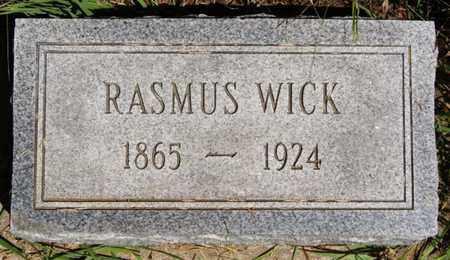WICK, RASMUS - Turner County, South Dakota | RASMUS WICK - South Dakota Gravestone Photos