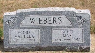 WIEBERS, MAX - Turner County, South Dakota   MAX WIEBERS - South Dakota Gravestone Photos