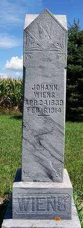 WIENS, JOHANN - Turner County, South Dakota   JOHANN WIENS - South Dakota Gravestone Photos