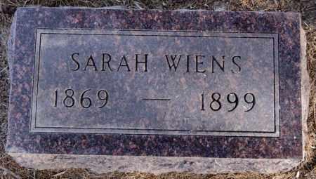 WIENS, SARAH - Turner County, South Dakota   SARAH WIENS - South Dakota Gravestone Photos