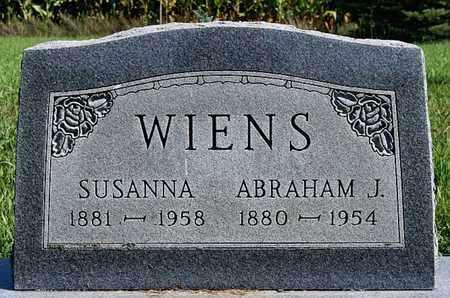 WIENS, ABRAHAM J - Turner County, South Dakota | ABRAHAM J WIENS - South Dakota Gravestone Photos