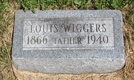 WIGGERS, LOUIS - Turner County, South Dakota | LOUIS WIGGERS - South Dakota Gravestone Photos