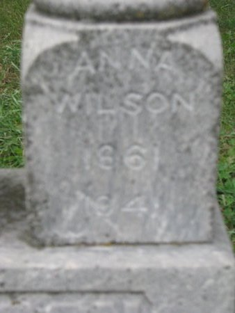 WILSON, ANNA (CLOSE UP) - Turner County, South Dakota | ANNA (CLOSE UP) WILSON - South Dakota Gravestone Photos
