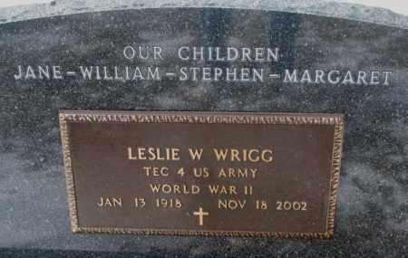 WRIGG, LESLIE W. (WW II) - Turner County, South Dakota | LESLIE W. (WW II) WRIGG - South Dakota Gravestone Photos