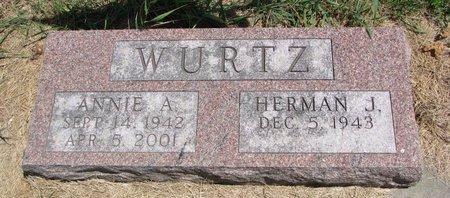WURTZ, ANNIE A. - Turner County, South Dakota   ANNIE A. WURTZ - South Dakota Gravestone Photos