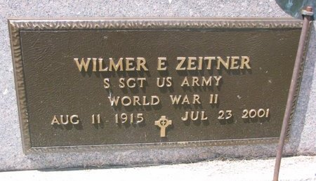 ZEITNER, WILMER E. (MILITARY) - Turner County, South Dakota | WILMER E. (MILITARY) ZEITNER - South Dakota Gravestone Photos