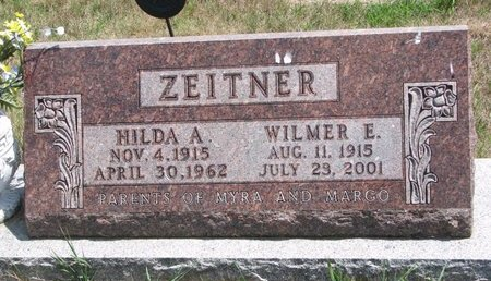 ZEITNER, HILDA A. - Turner County, South Dakota | HILDA A. ZEITNER - South Dakota Gravestone Photos
