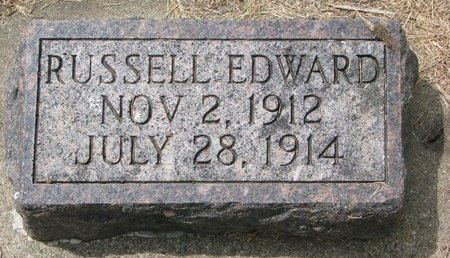 UNKNOWN, RUSSELL EDWARD - Union County, South Dakota | RUSSELL EDWARD UNKNOWN - South Dakota Gravestone Photos