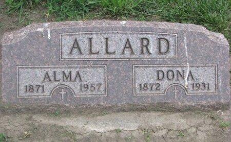 ALLARD, ALMA - Union County, South Dakota | ALMA ALLARD - South Dakota Gravestone Photos