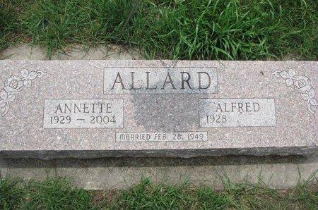 ALLARD, ANNETTE - Union County, South Dakota | ANNETTE ALLARD - South Dakota Gravestone Photos