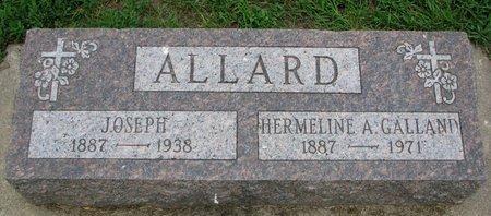 ALLARD, HERMELINE A. - Union County, South Dakota | HERMELINE A. ALLARD - South Dakota Gravestone Photos