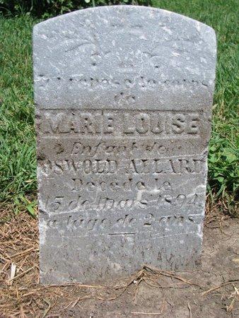 ALLARD, MARIE LOUISE - Union County, South Dakota   MARIE LOUISE ALLARD - South Dakota Gravestone Photos