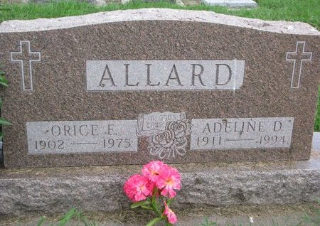 ALLARD, ORICE E. - Union County, South Dakota | ORICE E. ALLARD - South Dakota Gravestone Photos