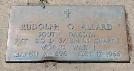 ALLARD, RUDOLPH O. (WORLD WAR I) - Union County, South Dakota   RUDOLPH O. (WORLD WAR I) ALLARD - South Dakota Gravestone Photos
