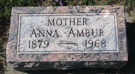 AMBUR, ANNA - Union County, South Dakota | ANNA AMBUR - South Dakota Gravestone Photos