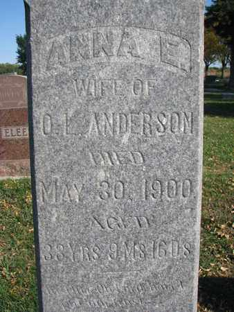 ANDERSON, ANNA E. (CLOSEUP) - Union County, South Dakota | ANNA E. (CLOSEUP) ANDERSON - South Dakota Gravestone Photos