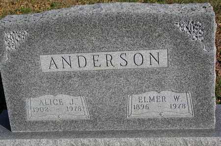 ANDERSON, ALICE J. - Union County, South Dakota | ALICE J. ANDERSON - South Dakota Gravestone Photos