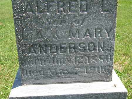 ANDERSON, ALFRED L. (CLOSE UP) - Union County, South Dakota | ALFRED L. (CLOSE UP) ANDERSON - South Dakota Gravestone Photos