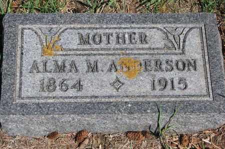 ANDERSON, ALMA M. - Union County, South Dakota | ALMA M. ANDERSON - South Dakota Gravestone Photos