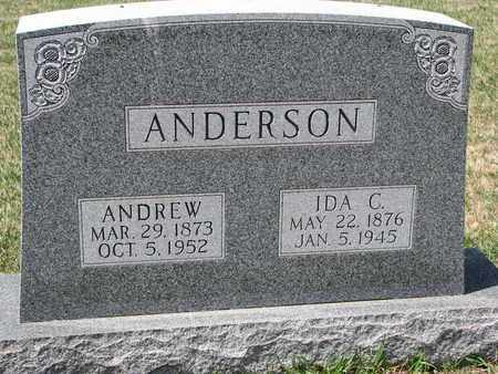 ANDERSON, ANDREW - Union County, South Dakota | ANDREW ANDERSON - South Dakota Gravestone Photos
