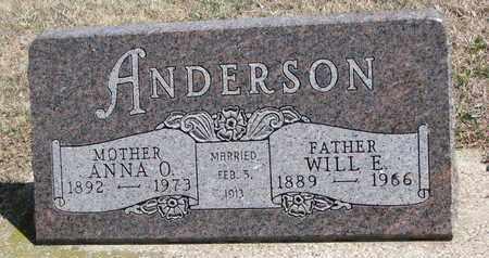 ANDERSON, WILL E. - Union County, South Dakota   WILL E. ANDERSON - South Dakota Gravestone Photos