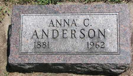 ANDERSON, ANNA C. - Union County, South Dakota | ANNA C. ANDERSON - South Dakota Gravestone Photos