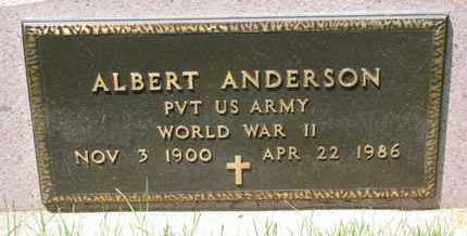 ANDERSON, ALBERT (MILITARY) - Union County, South Dakota | ALBERT (MILITARY) ANDERSON - South Dakota Gravestone Photos