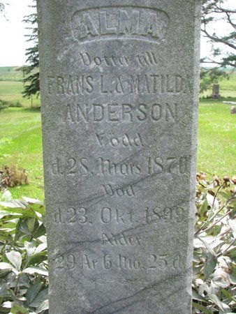 ANDERSON, ALMA (CLOSEUP) - Union County, South Dakota | ALMA (CLOSEUP) ANDERSON - South Dakota Gravestone Photos