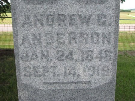 ANDERSON, ANDREW G. (CLOSEUP) - Union County, South Dakota | ANDREW G. (CLOSEUP) ANDERSON - South Dakota Gravestone Photos