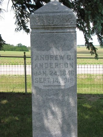 ANDERSON, ANDREW G. - Union County, South Dakota | ANDREW G. ANDERSON - South Dakota Gravestone Photos