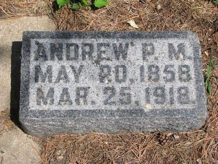 ANDERSON, ANDREW P.M. - Union County, South Dakota   ANDREW P.M. ANDERSON - South Dakota Gravestone Photos