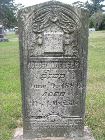 ANDERSON, AUGUST - Union County, South Dakota | AUGUST ANDERSON - South Dakota Gravestone Photos