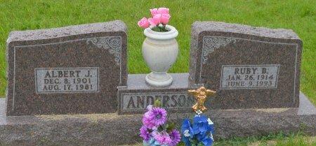 ANDERSON, ALBERT JOHAN - Union County, South Dakota | ALBERT JOHAN ANDERSON - South Dakota Gravestone Photos