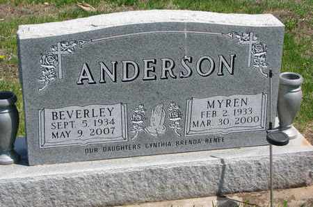ANDERSON, MYREN LYNN - Union County, South Dakota | MYREN LYNN ANDERSON - South Dakota Gravestone Photos